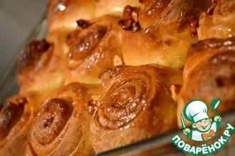 Рецепт: Медовые булочки с корицей и пеканом