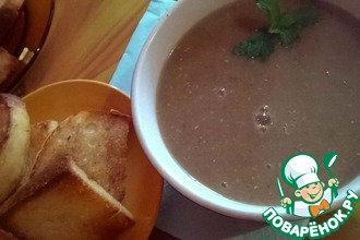 Рецепт: Суп с чечевицей по-овернски