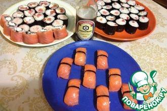 Рецепт: Роллы и нигири суши