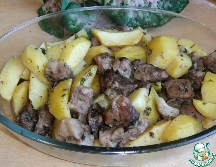 Рецепт: Свинина с картофелем в рукаве