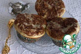 Рецепт: Шоколадно-сырные кексы с вяленой вишней