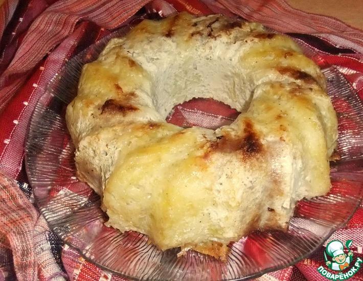 Рецепт: Картофельно-мясная запеканка Зебра
