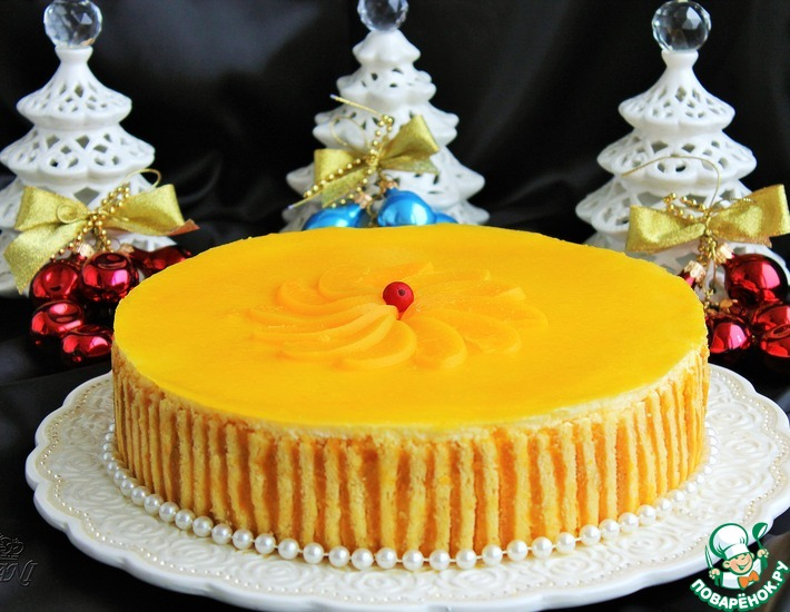 Рецепт: Персиковый торт-суфле