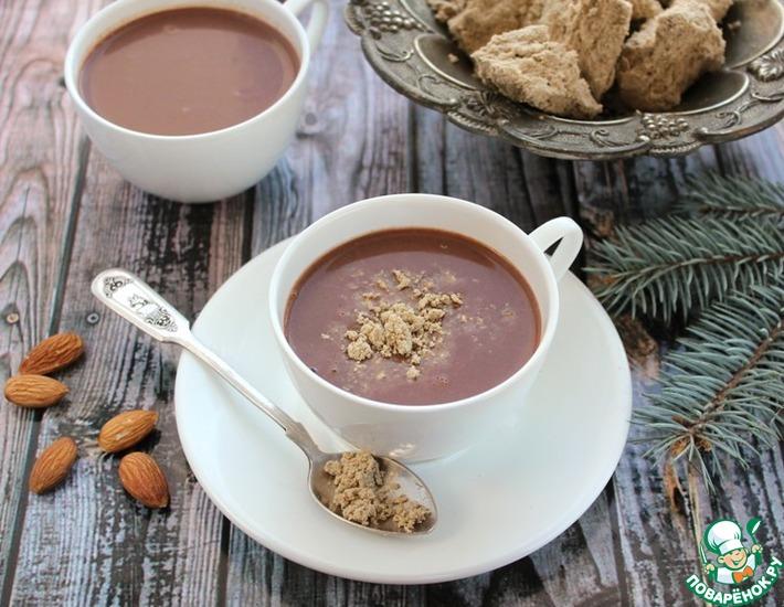 Рецепт: Горячий шоколад с халвой