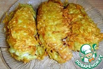 Рецепт: Лососевые молоки в картофельной шубке