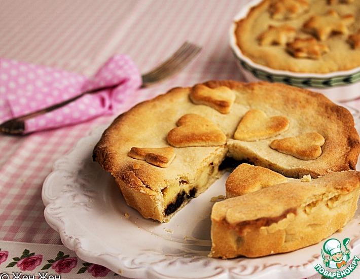 Рецепт: Баскский пирог с заварным кремом и черносливом
