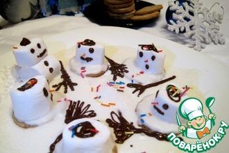 Рецепт: Печенье Тающие снеговики