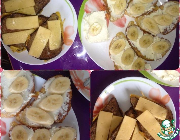 Рецепт: Тосты на завтрак