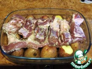 Свиные ребрышки с картошкой – кулинарный рецепт