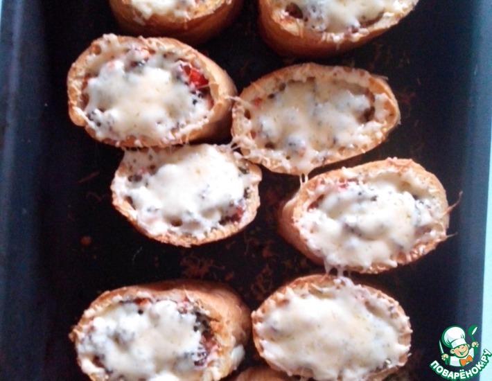 Рецепт: Пицца в багете