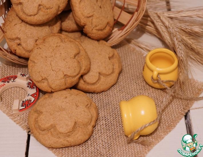 Рецепт: Арахисовое печенье на полбовой муке
