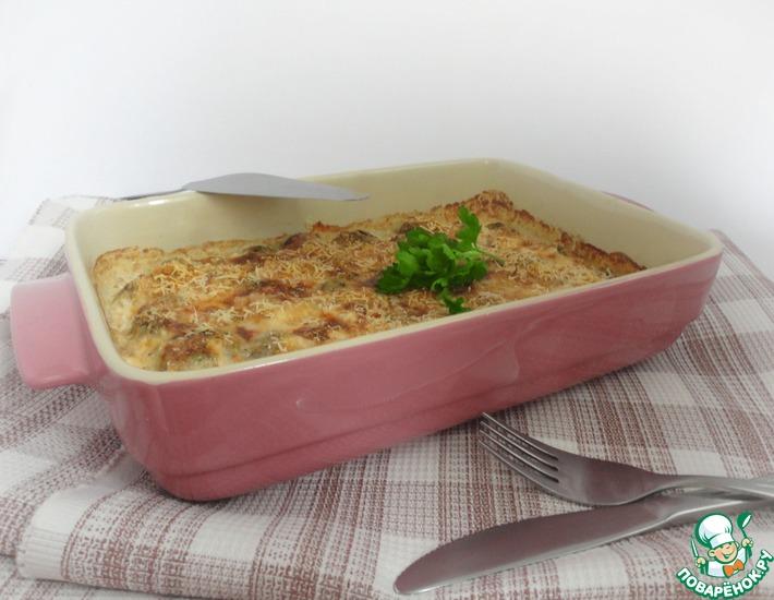 Рецепт: Сырно-сливочная запеканка из брюссельской капусты