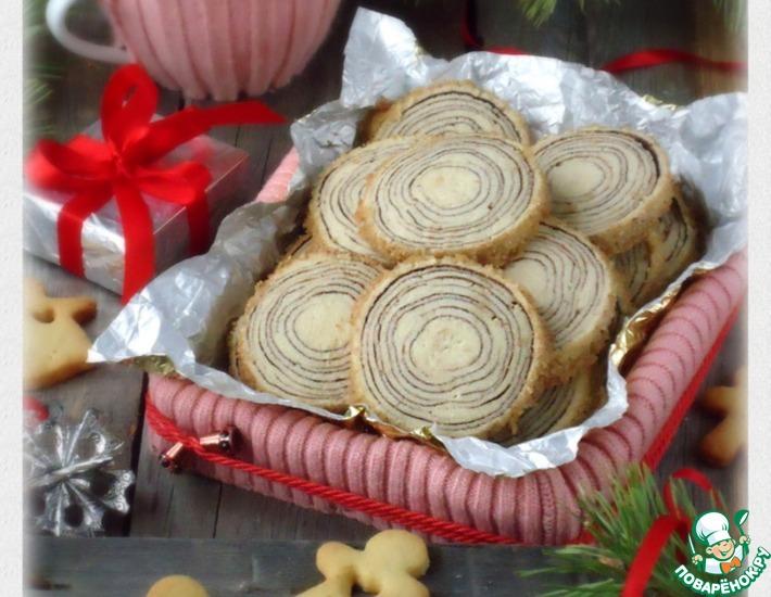 Рецепт: Печенье Ствол дерева