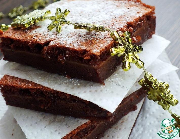 Рецепт: Мокрые шоколадные пирожные