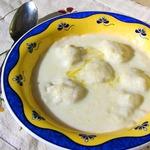 Молочный суп с картофельными клецками