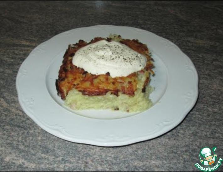 Рецепт: Картофельная запеканка с ветчиной
