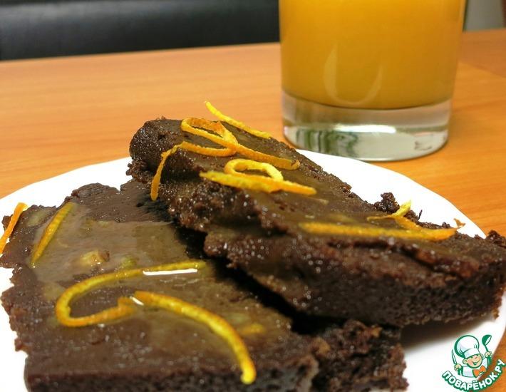 Рецепт: Шоколадно-апельсиновый муалё