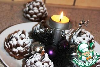 Рецепт: Десерт Сладкая новогодняя шишка
