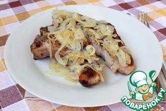 Рецепт: Антрекот из свинины в духовке