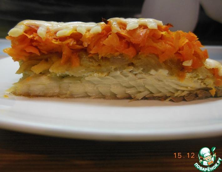 Рецепт: Скумбрия, запечённая с овощами