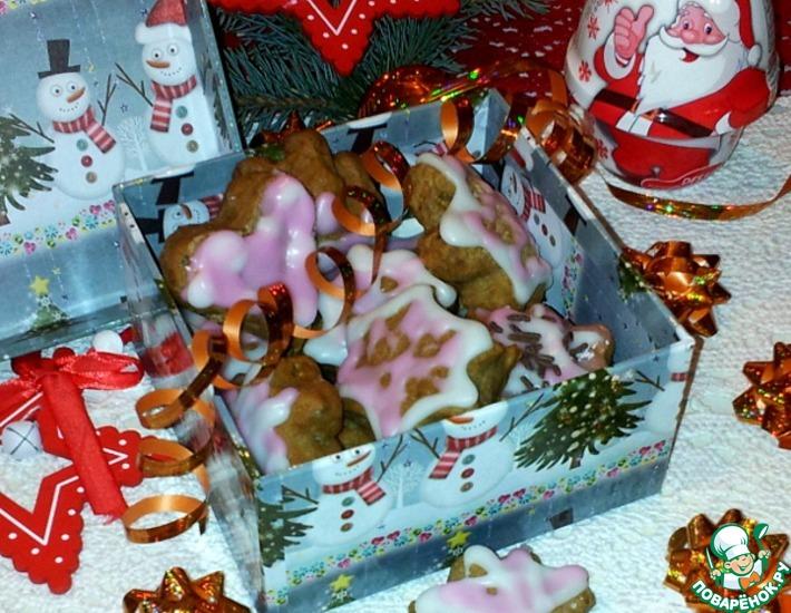 Рецепт: Рождественское печенье с корицей и семенами подсолнечника
