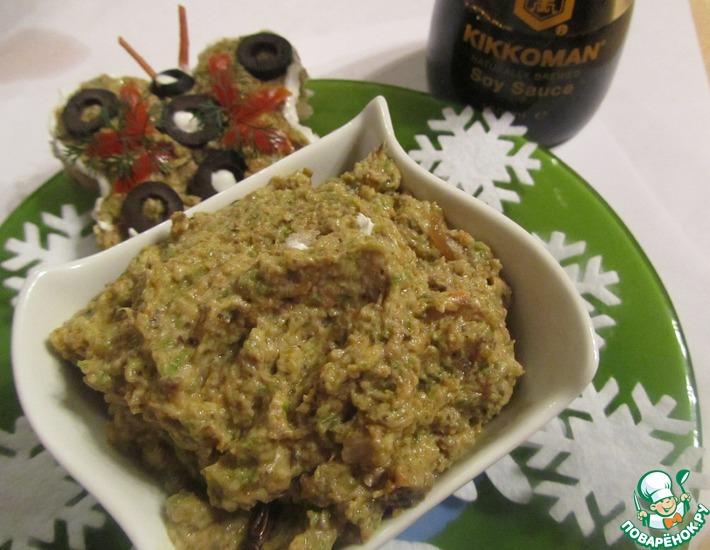 Рецепт: Грибной паштет с кабачками