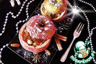 Рецепт: Яблоки, фаршированные кус-кусом
