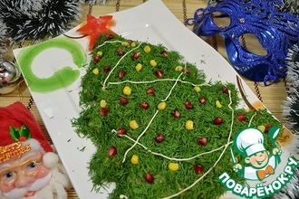 Рецепт: Салат на новый год «Елочка»