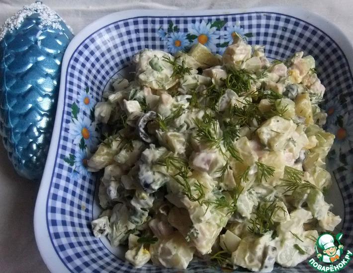 Рецепт: Картофельный салат с беконом