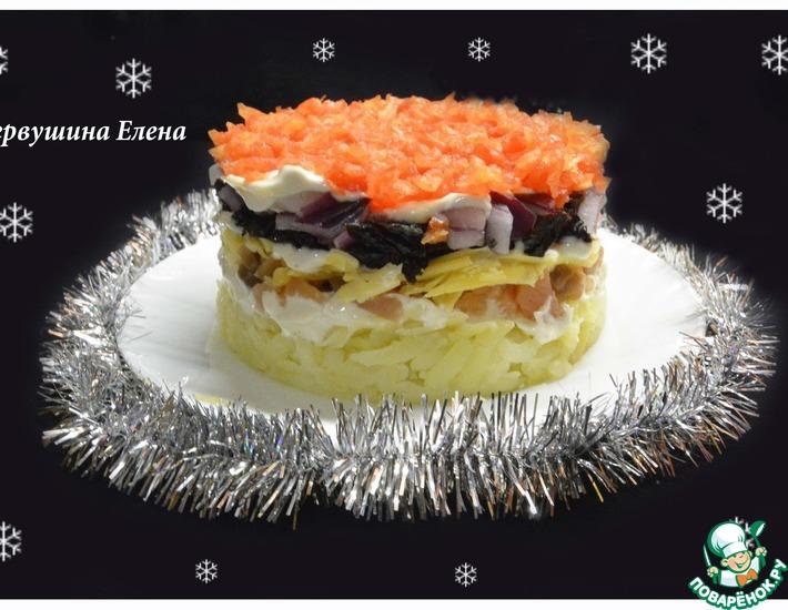 Рецепт: Салат Зимняя ночь