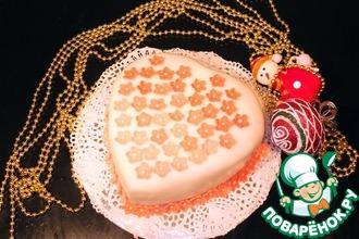 Рецепт: Торт Малиновое сердце