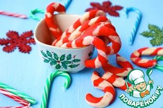 Рецепт: Печенье Рождественские леденцы