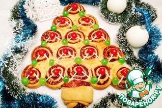 Рецепт: Пирог Новогодняя ёлочка