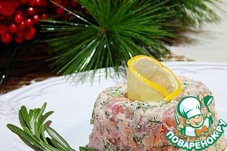 Рецепт: Закуска праздничная пикантная Два лосося