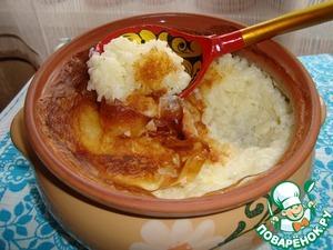 Rice porridge in a pot