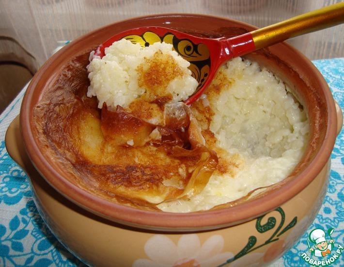 Сладкая рисовая каша на молоке с изюмом в духовке — pic 4