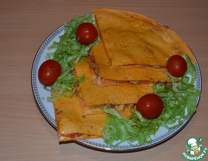 Рецепт: Кесадильяс