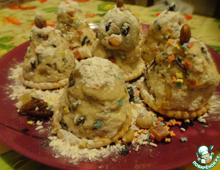 Рецепт: Творожные пирожные