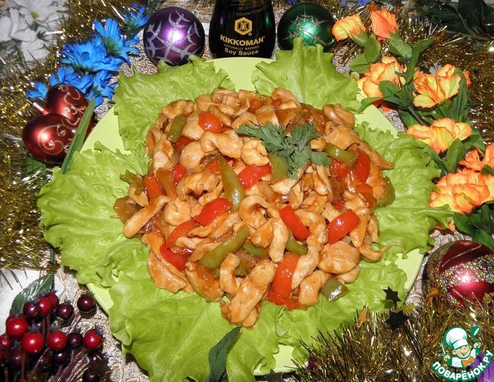 Рецепт: Куриное филе в кисло-сладком соусе