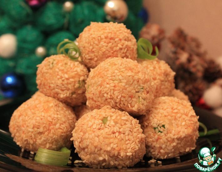 Рецепт: Салатные шарики А-ля Мимоза