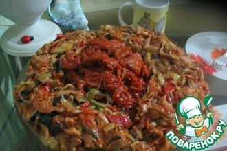 Рецепт: Баклажаны по-китайски с соевым мясом
