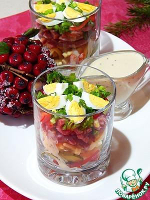 Салат Новогодний в огуречной заправке Соевый соус