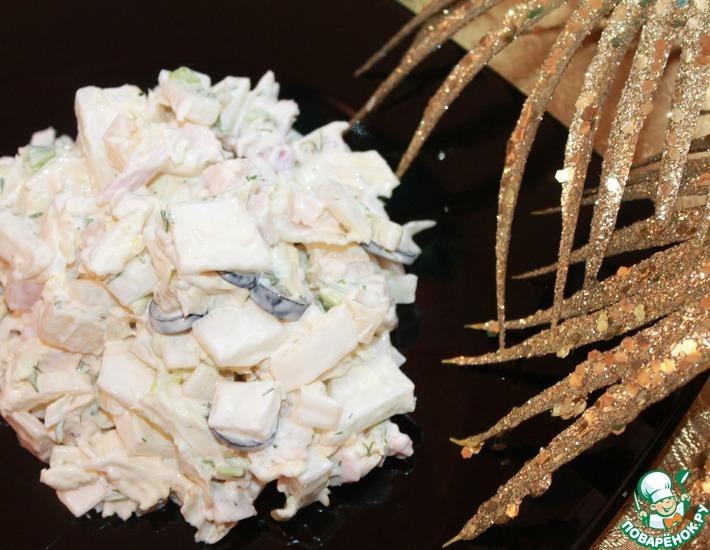 Рецепт: Салат с китайской капустой, курицей и ананасами