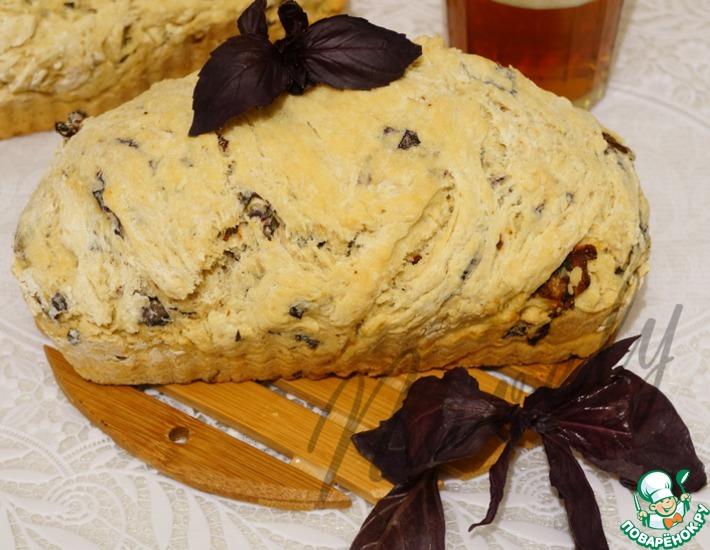 Рецепт: Быстрый хлеб на пиве с базиликом