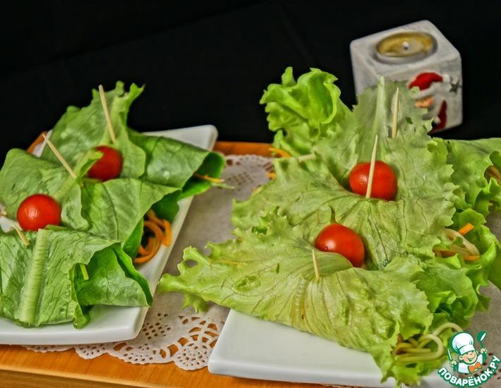 Рецепт: Острый салат с рисовой лапшой
