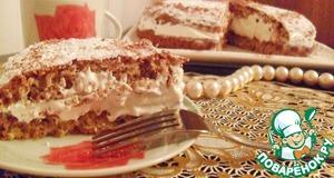 Рецепт Нежный бисквит с молочным шоколадом и миндалем