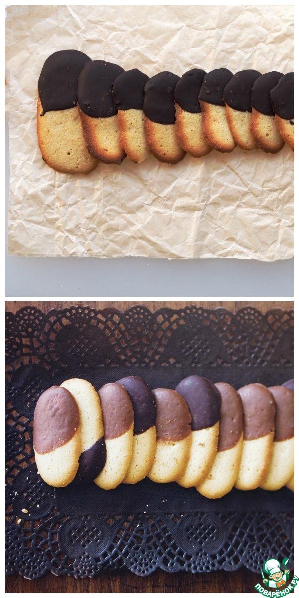 """Печенье """"Кошачьи язычки"""" в шоколаде"""