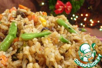 Рецепт: Жареный рис адаптированный