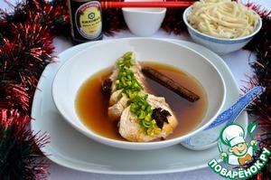 Рецепт Курица, томленая в бульоне, по-китайски