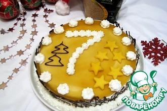 Рецепт: Торт с манговым муссом Звёздный Поварёнок